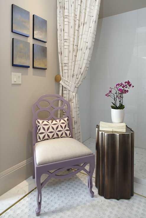 Purple Chair - Contemporary - bathroom - Artistic Designs for Living