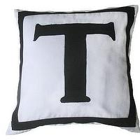 Pillows - Custom made monogram pillows -white pillow with black letter - monogram throw pillows, monogram pillows, monogrammed throw pillows, custom throw pillow covers, monogrammed throw pillows.