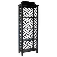 Storage Furniture - Meiling Bookcase Hand Rubbed Black - meiling, bookcase, lattice, black