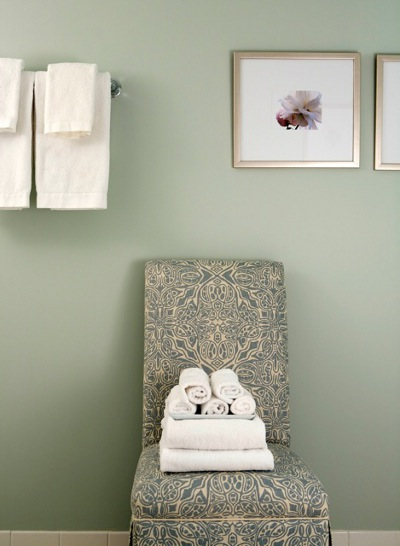 Damask Chair Traditional Bathroom Sage Design