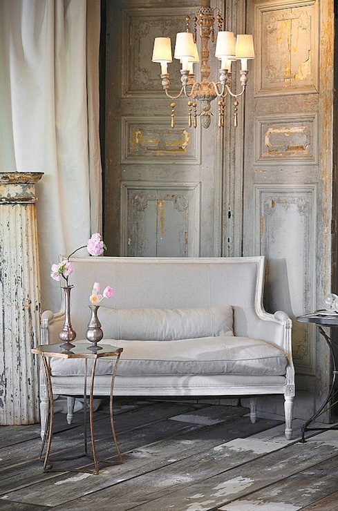 French Settee French Living Room Aidan Gray Home