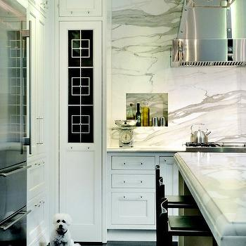 Calcutta Gold Marble Backsplash, Contemporary, kitchen, Meyer Davis Studio