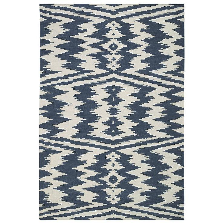 Capel Rugs Junction Blue Wool Rug