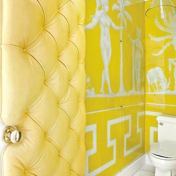 Greek Key Wallpaper Contemporary Bathroom Cynthia