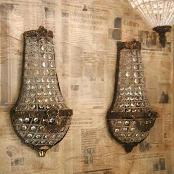 Lighting - Eloquence Beaded Sconces Set of 2 - Eloquence, Beaded, Sconces