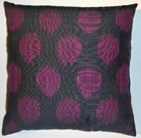 Pillows - silk/cotton ikat pillow cover - purple, ikat, pillow