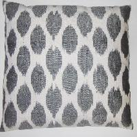 Pillows - IKT07 Silk/cotton ikat pillow cover - gray, ikat, pillow
