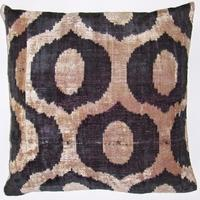 Pillows - IKT145 Silk velvet ikat pillow cover - velvet, ikat, pillow