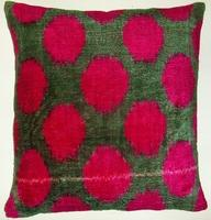 Pillows - IKT147 Silk velvet ikat pillow cover - velvet, ikat, pillow
