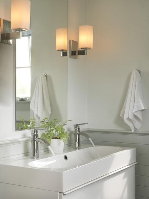 Trough Bathroom Sink With Two Faucets: Trough Bathroom Sink