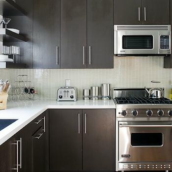 Espresso Cabinets, Contemporary, kitchen, Jeff Lewis Design