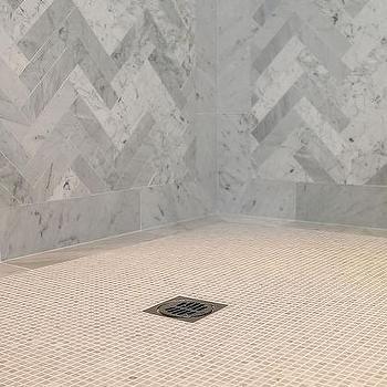 Herringbone Shower, Contemporary, bathroom, Jeff Lewis Design