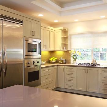 Gray Quartz Countertop, Contemporary, kitchen, Jeff Lewis Design