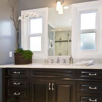 Black Bathroom Vanity, Contemporary, bathroom, Jeff Lewis Design