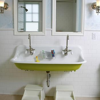 Kohler Brockway Sink, Cottage, bathroom, Upscale Construction