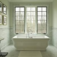 Cynthia Lynn Photography - bathrooms - freestanding, tub, marble, herringbone, pattern, tiles, floor, marble, subway tiles, backsplash, marble floors, marble tile floor, herringbone tiles, herringbone tile floor, herringbone marble tiles, herringbone marble floor, marble herringbone tiles, marble herringbone floor, marble herringbone tile floor, marble herringbone tile bathroom,