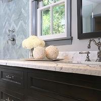 Herringbone Backsplash - Contemporary - bathroom - Jeff ...