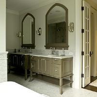 Taupe Bathroom Contemporary Bathroom Elle Decor