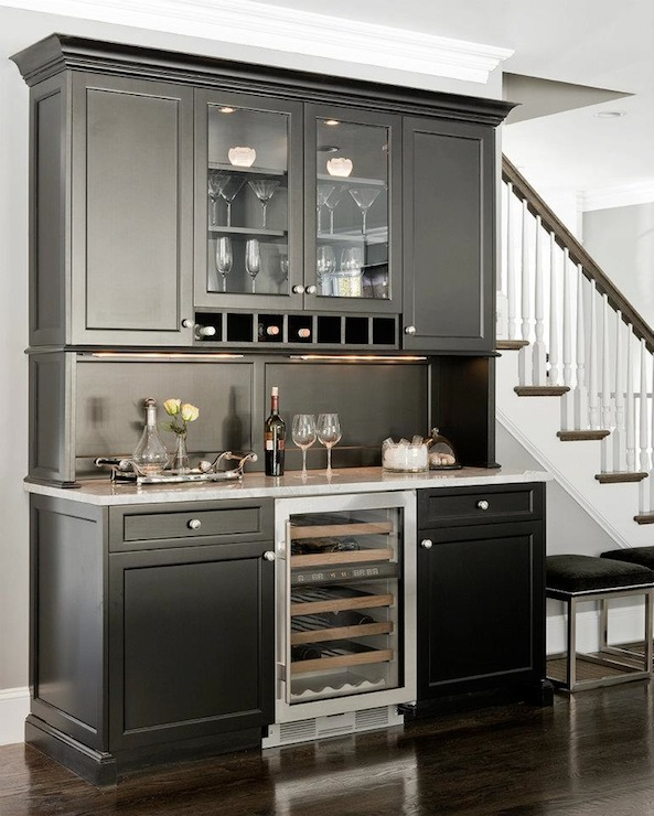 Black Butlers Pantry Cabinets, Transitional, kitchen, Venegas and Company