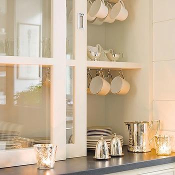 Glass Front Kitchen Cabinets, Transitional, kitchen, El Mueble