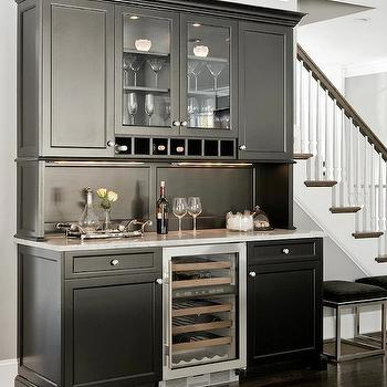 Venegas and Company - kitchens - glossy, black, butler's pantry, black, kitchen cabinets, wine cooler, butlers pantry, butler pantry, butlers pantry design, butler pantry design, butler pantry cabinets, black butler pantry cabinets, butlers pantry cabinets, black butlers pantry cabinets,
