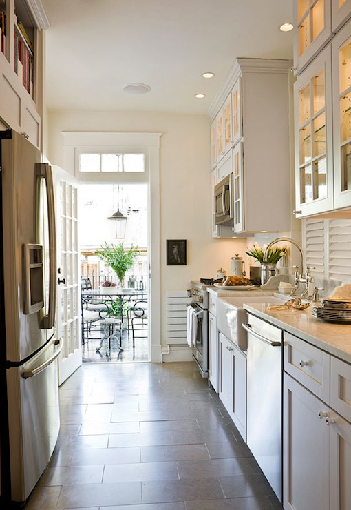 white galley kitchen transitional kitchen benjamin galley kitchen design ideas 16 gorgeous spaces bob vila