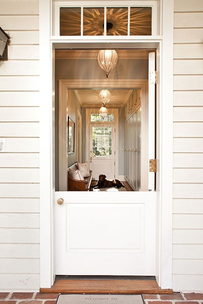 Jones Pierce Architects - home exteriors - white, dutch door, brick, pavement, dutch door, dutch door ideas, dutch door ideas,  Lovely home exterior