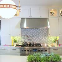 Palmer Weiss - kitchens - floor to ceiling, white, kitchen cabinets, pot filler, silestone, white, quartz, countertops, ann sacks beau monde tile, beau monde tiles, ann sacks tiles, ann sacks kitchen tiles, ann sacks kitchen backsplash, ann sacks backsplash, Ann Sacks Beau Monde Polly Tiles, Urban Electric Dover Ball Pendant,