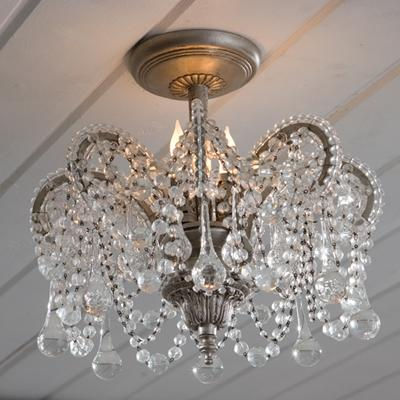 Lighting - Rachel Ashwell Shabby Chic Couture Tracey Ceiling Mount - crown, chandelier