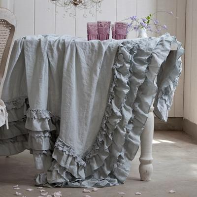 Rachel Ashwell Shabby Chic Couture Teal Petticoat Tablecloth