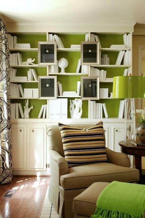 Library Bookshelves: Painted Bookshelves