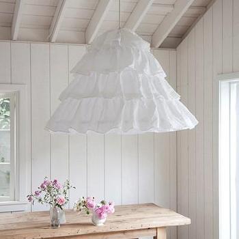 Rachel Ashwell Shabby Chic Couture Petticoat Hoopskirt Overdyed Hanging Shade