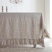Decor/Accessories - Rachel Ashwell Shabby Chic Couture Grain Linen Single Ruffle Tablecloth - grain, linen, ruffle, tablecloth