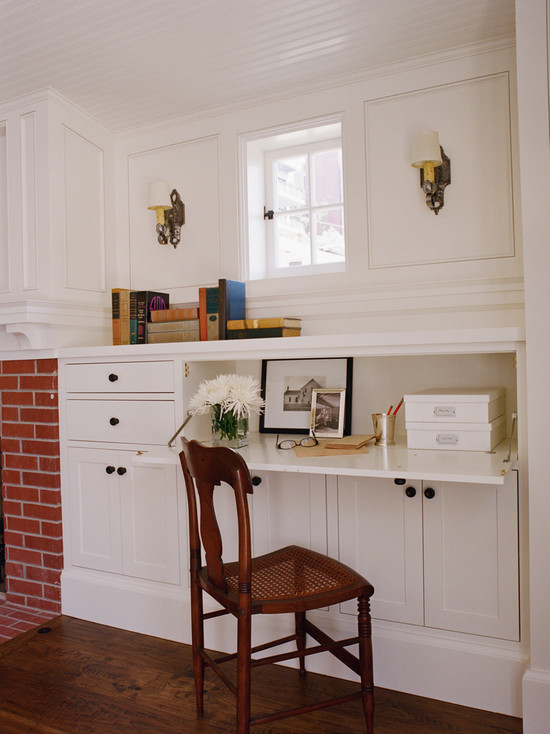 Built In Office Desk Traditional Living Room Tim Barber