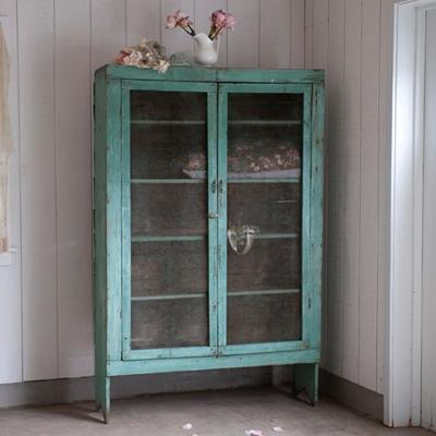 Storage Furniture - Green Pie Safe, Vintage furniture by Rachel Ashwell Shabby Chic Couture - green, pie, safe