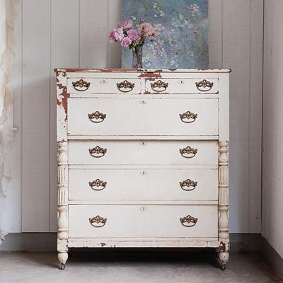 Storage Furniture - Rachel Ashwell Shabby Chic Couture - Large Cream Dresser - SOLD - large, cream, dresser
