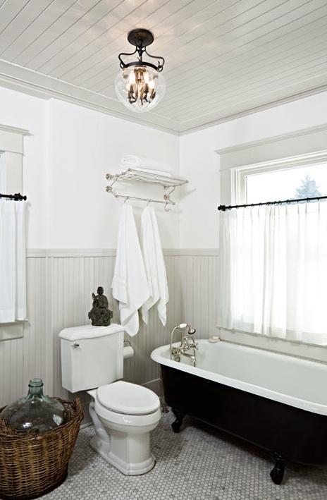 Gray Beadboard, Cottage, bathroom, Jessica Helgerson Interior Design