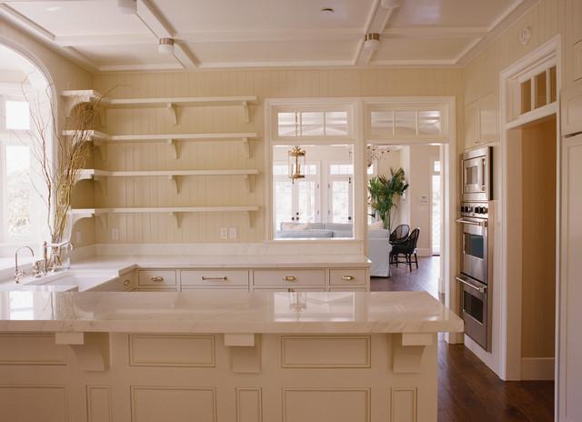 Tan Kitchen Cabinets  Cottage  kitchen  Tim Barber