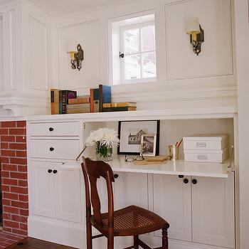 Built In Office Desk, Traditional, living room, Tim Barber