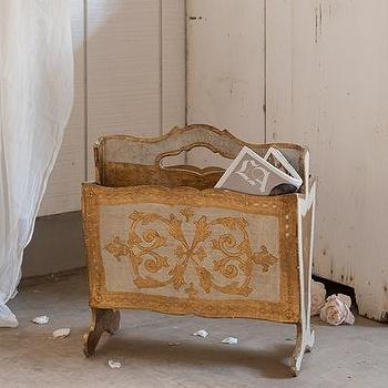 Decor/Accessories - Rachel Ashwell Shabby Chic Couture Florentine Magazine Holder - florentine, magazine, holder