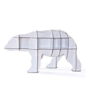 Storage Furniture - iBride Junior Polar Bear Bookshelf - Style # JUNIOR, Modern bookcases, contemporary bookcases, books shelves at SWITCHmodern.com - junior, polar bear, bookshelf