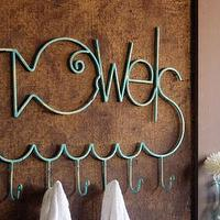 Art/Wall Decor - fish 'towels' rack - fish, towels, rack