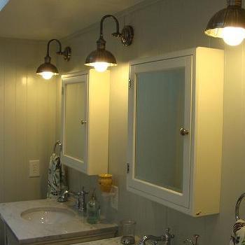 Girls Cottage Bathroom, Cottage, bathroom, Benjamin Moore Gray Owl, Steward of Design