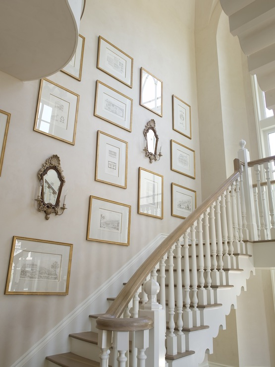 Staircase Art Wall French Entrance Foyer Phoebe Howard Wall Art For  Staircase Wall