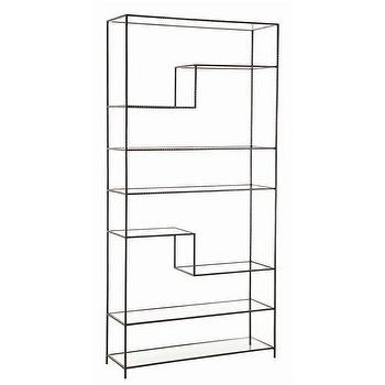 Arteriors Worchester Natural Iron And Glass Bookshelf, Arteriors-6818, Candelabra, Inc.