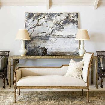 French Settee, Transitional, living room, Phoebe Howard