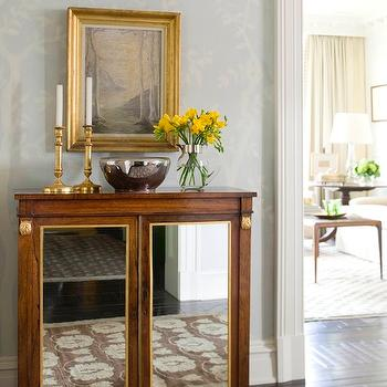 Mirrored Cabinet, Traditional, entrance/foyer, Phoebe Howard