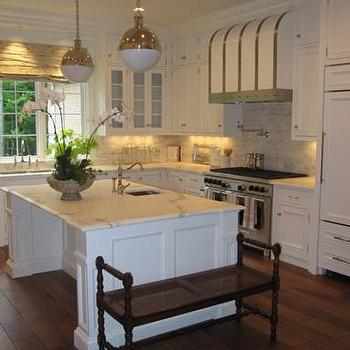 Kitchen Island Hicks Pendants, Traditional, kitchen, Phoebe Howard