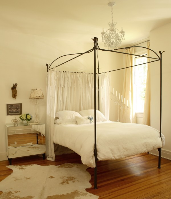 Mirrored Nightstand Contemporary Bedroom The Iron Gate