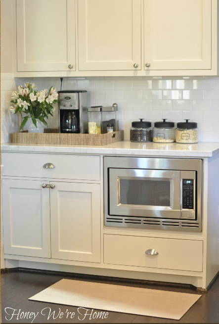 White Painted Kitchen Cabinets Transitional Kitchen